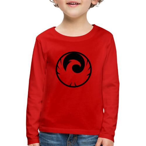 Phönix Logo Schattierung Phoenix schwarz black - Kinder Premium Langarmshirt