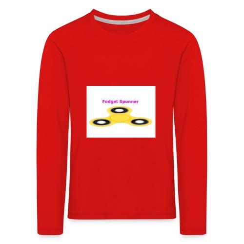 sponner - Premium langermet T-skjorte for barn