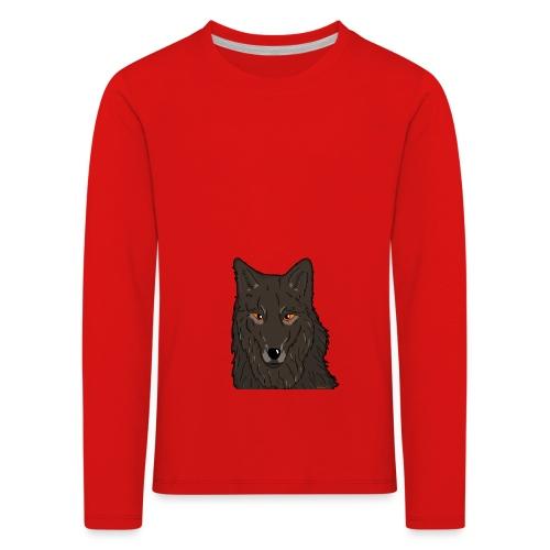 HikingMantis Wolf png - Børne premium T-shirt med lange ærmer