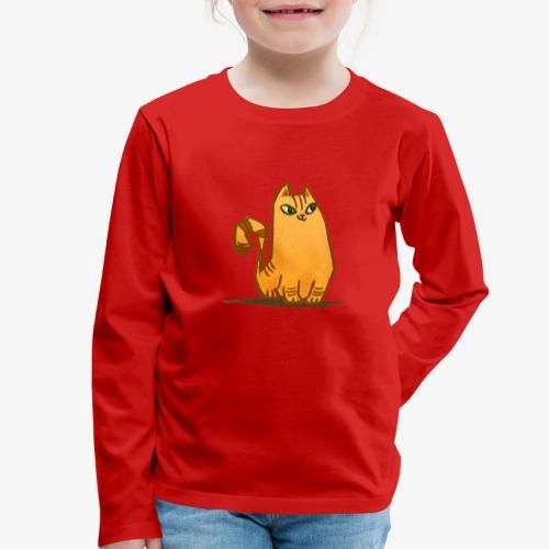 Katt - Långärmad premium-T-shirt barn