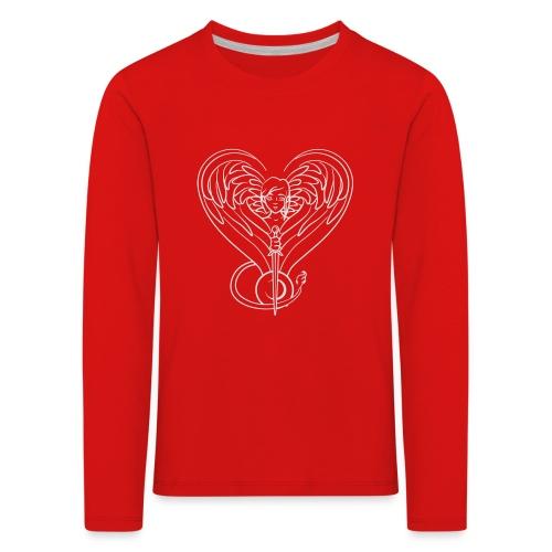 Sphinx valentine white - Kids' Premium Longsleeve Shirt