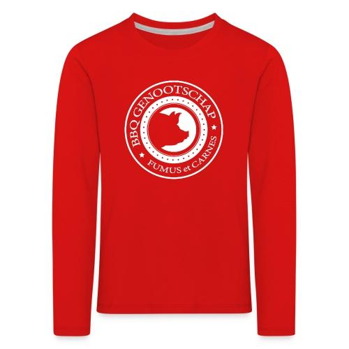 BBQ Genootschap logo shirt (voorkant) - Kinderen Premium shirt met lange mouwen