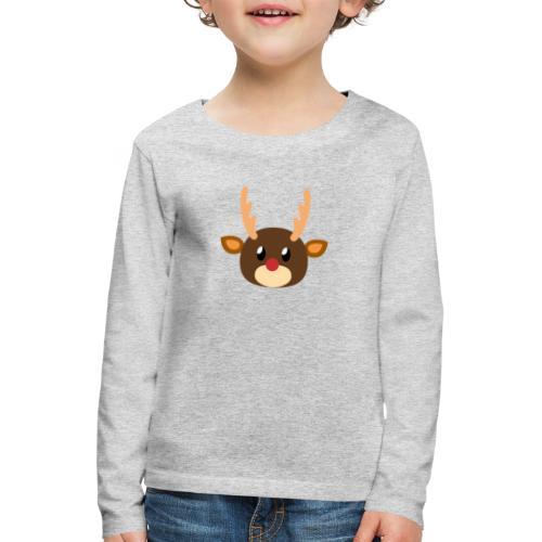Rentier »Rudy« - Kids' Premium Longsleeve Shirt