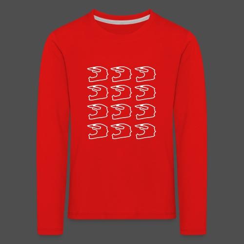 Kask krzyżowy 12 - Koszulka dziecięca Premium z długim rękawem