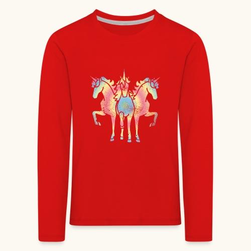 Licorne troïka arc-en-ciel grunge drôle cadeau - T-shirt manches longues Premium Enfant
