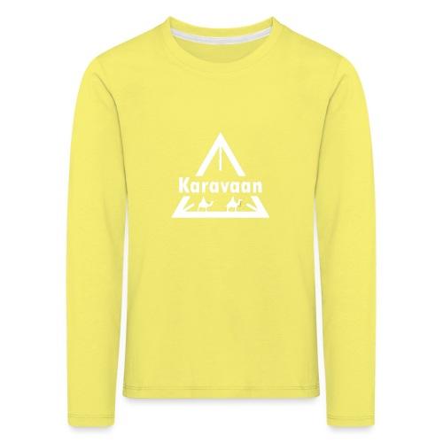 Karavaan White (High Res) - Kinderen Premium shirt met lange mouwen