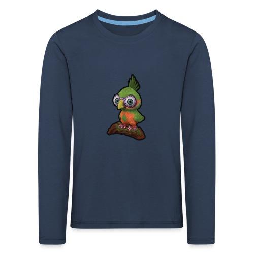 A bird sitting on a branch - Kids' Premium Longsleeve Shirt