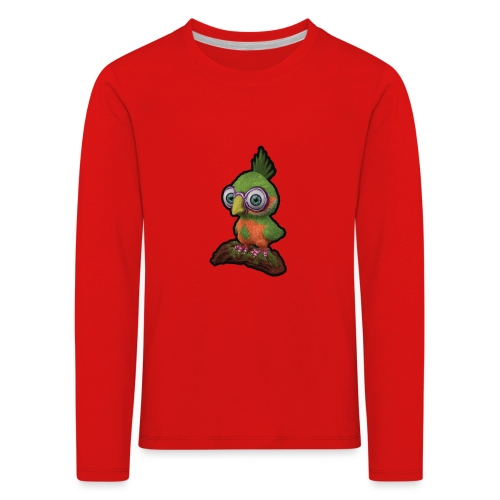 A bird sitting on a branch - Kids' Premium Longsleeve Shirt