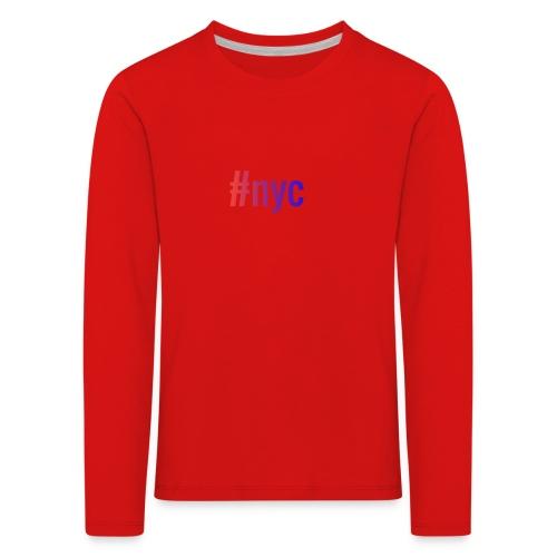 nyc - Lasten premium pitkähihainen t-paita