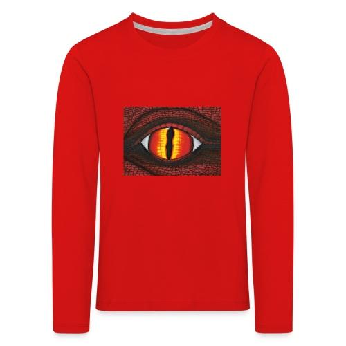 rotes Drachenauge - Kinder Premium Langarmshirt