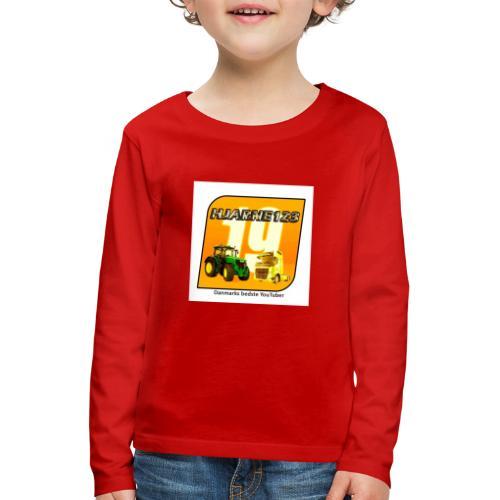 hjarne 123 danmarks bedeste youtuber - Børne premium T-shirt med lange ærmer
