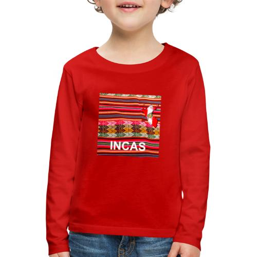 Telar inca Mapa del Peru - Kids' Premium Longsleeve Shirt