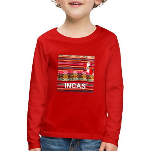 Telar inca Mapa del Peru - T-shirt manches longues Premium Enfant