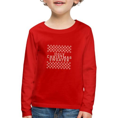 Ugly Christmas sweater, maglione natalizio festoso - Maglietta Premium a manica lunga per bambini