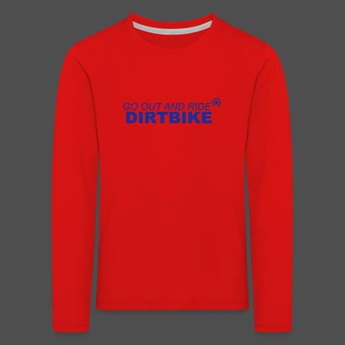 jeździć dirtbike bl - Koszulka dziecięca Premium z długim rękawem
