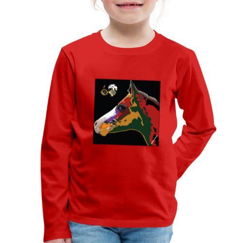 Spotted.Horse Appaloosa Colt Pop by Romeo F. - Maglietta Premium a manica lunga per bambini