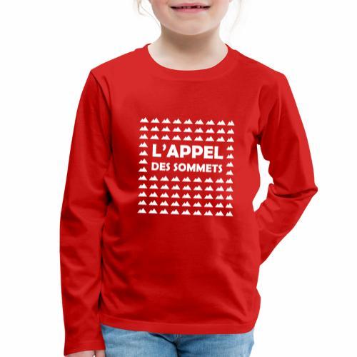 L'appel des sommets - T-shirt manches longues Premium Enfant