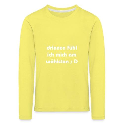 lustiger perverser text - Kinder Premium Langarmshirt