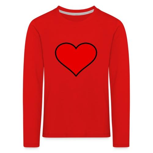 big heart clipart 3 - Långärmad premium-T-shirt barn