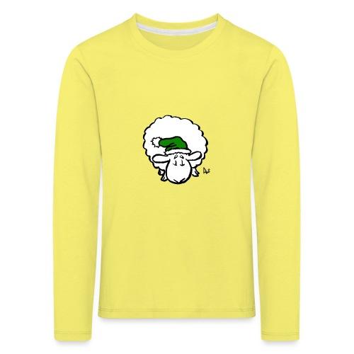 Santa Sheep (green) - Kids' Premium Longsleeve Shirt