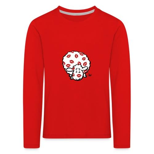 Kiss Ewe - Premium langermet T-skjorte for barn