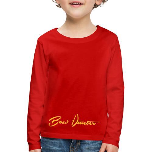 Bowhunter Schriftzug - Kinder Premium Langarmshirt