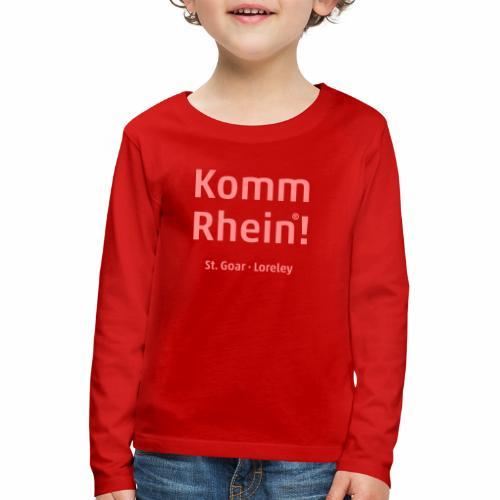 Komm Rhein! St. Goar · Loreley - Kinder Premium Langarmshirt