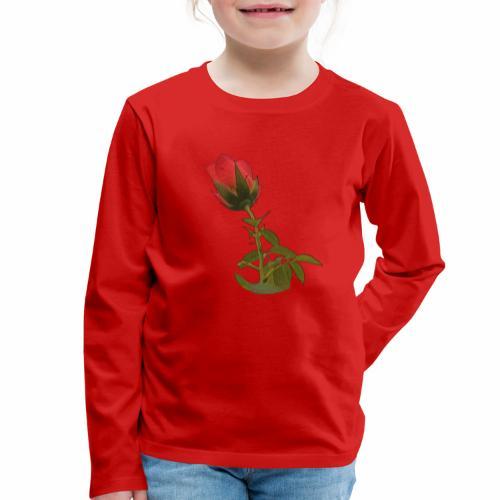 Rote Kletter Rose - Kinder Premium Langarmshirt