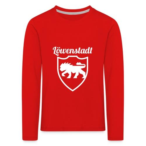 Löwenstadt Design 2 weiss - Kinder Premium Langarmshirt