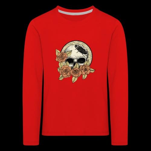 Rose et tête de mort - T-shirt manches longues Premium Enfant