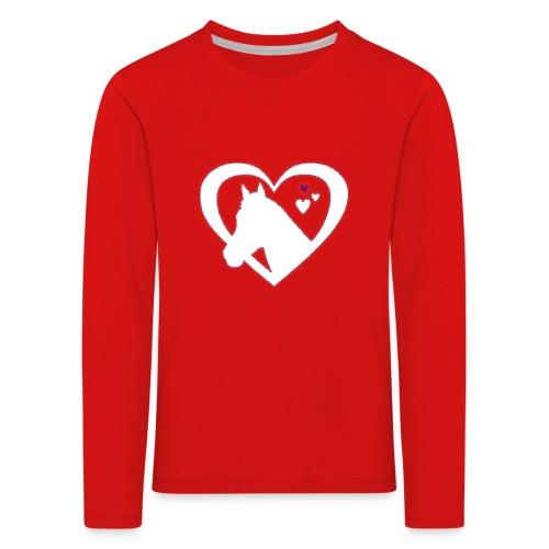 horse heart - Kinderen Premium shirt met lange mouwen