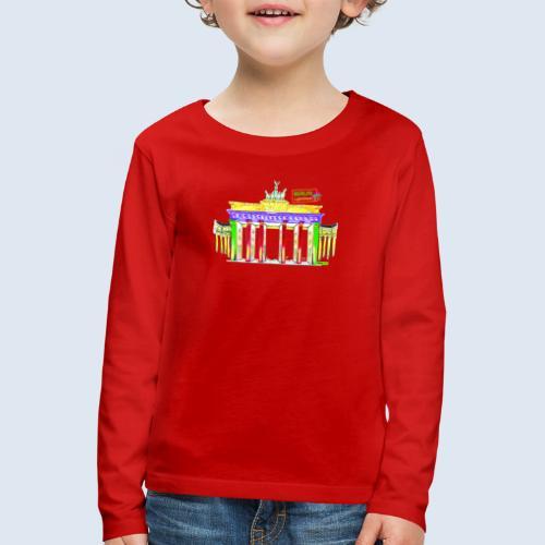 """Berliner """"Brandenburger Tor"""" PopArt BLS Design - Kinder Premium Langarmshirt"""