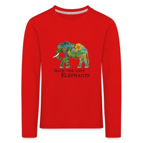Save The Last Elephants - Kinder Premium Langarmshirt