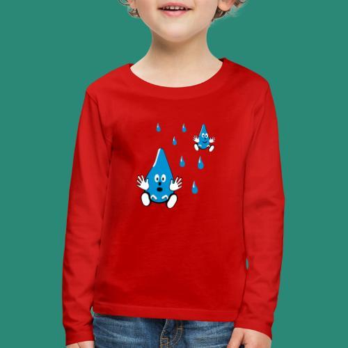 Tropfen - Kinder Premium Langarmshirt