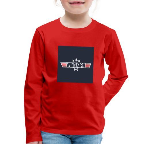 top gun wingman design - Camiseta de manga larga premium niño