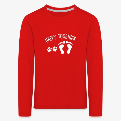happy together dog - Kinder Premium Langarmshirt