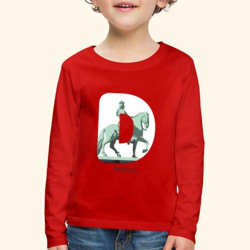 Düsseldorf T-Shirt Jan Wellem D weiß - Kinder Premium Langarmshirt