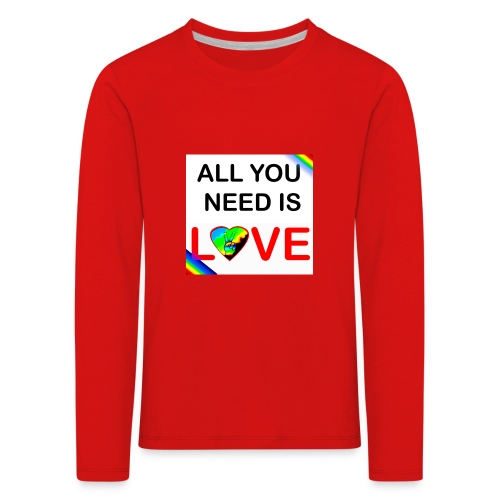 all you need is peace and love - T-shirt manches longues Premium Enfant