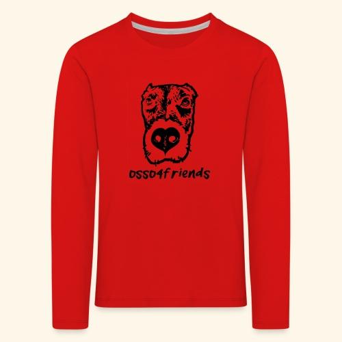Logo NERO TRASPARENTE creative - Maglietta Premium a manica lunga per bambini