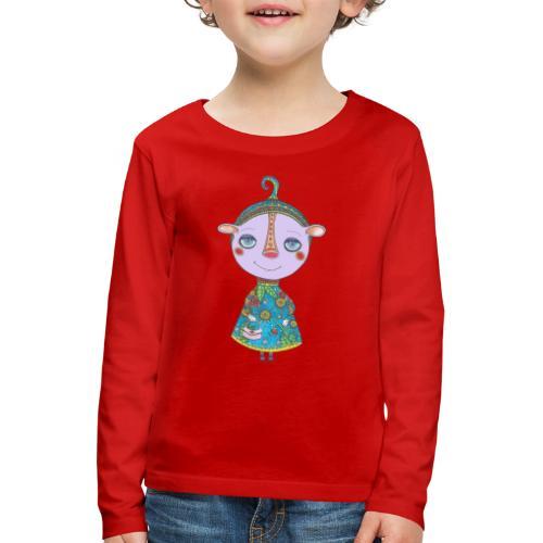 Coquette en habit du dimanche - T-shirt manches longues Premium Enfant