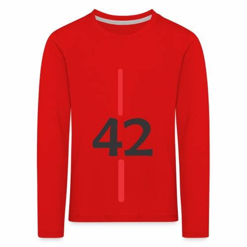 42 - Camiseta de manga larga premium niño