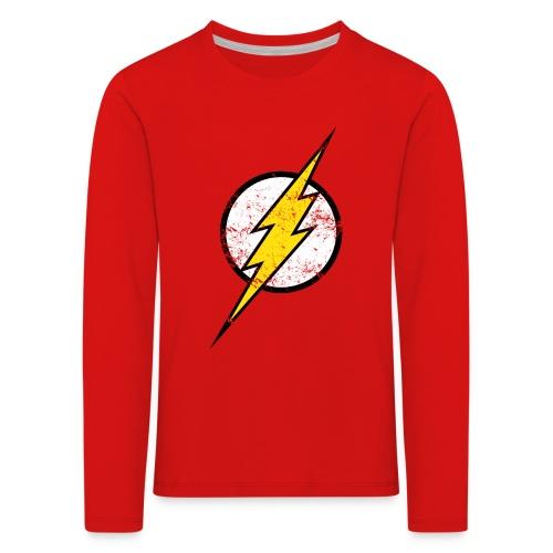 DC Comics Justice League Flash Logo - Kinder Premium Langarmshirt