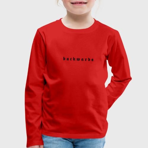 Backwards - Kinderen Premium shirt met lange mouwen