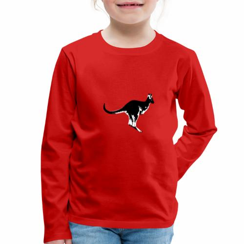 Känguru in schwarz weiss - Kinder Premium Langarmshirt