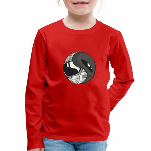 Yin Yang space Alien und Astronaut - Kinder Premium Langarmshirt