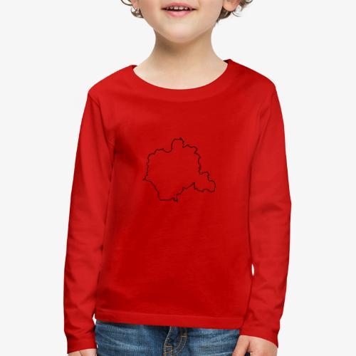 Kontur des Kreises Lippe - Kinder Premium Langarmshirt