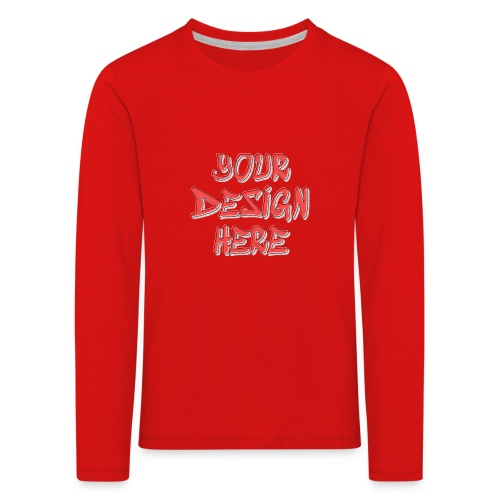 textfx - Långärmad premium-T-shirt barn