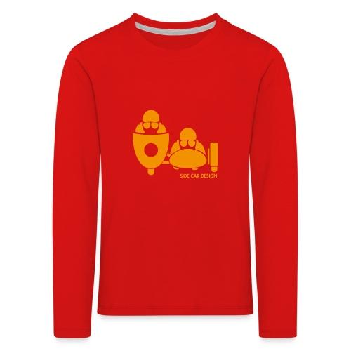 BASSET LOGO orange - T-shirt manches longues Premium Enfant