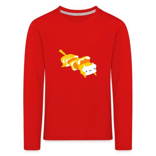 Cat sandwich Gatto sandwich - Maglietta Premium a manica lunga per bambini