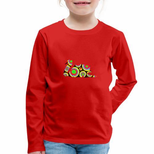 Bunter Schwan mit vielen tollen Farben - Kinder Premium Langarmshirt